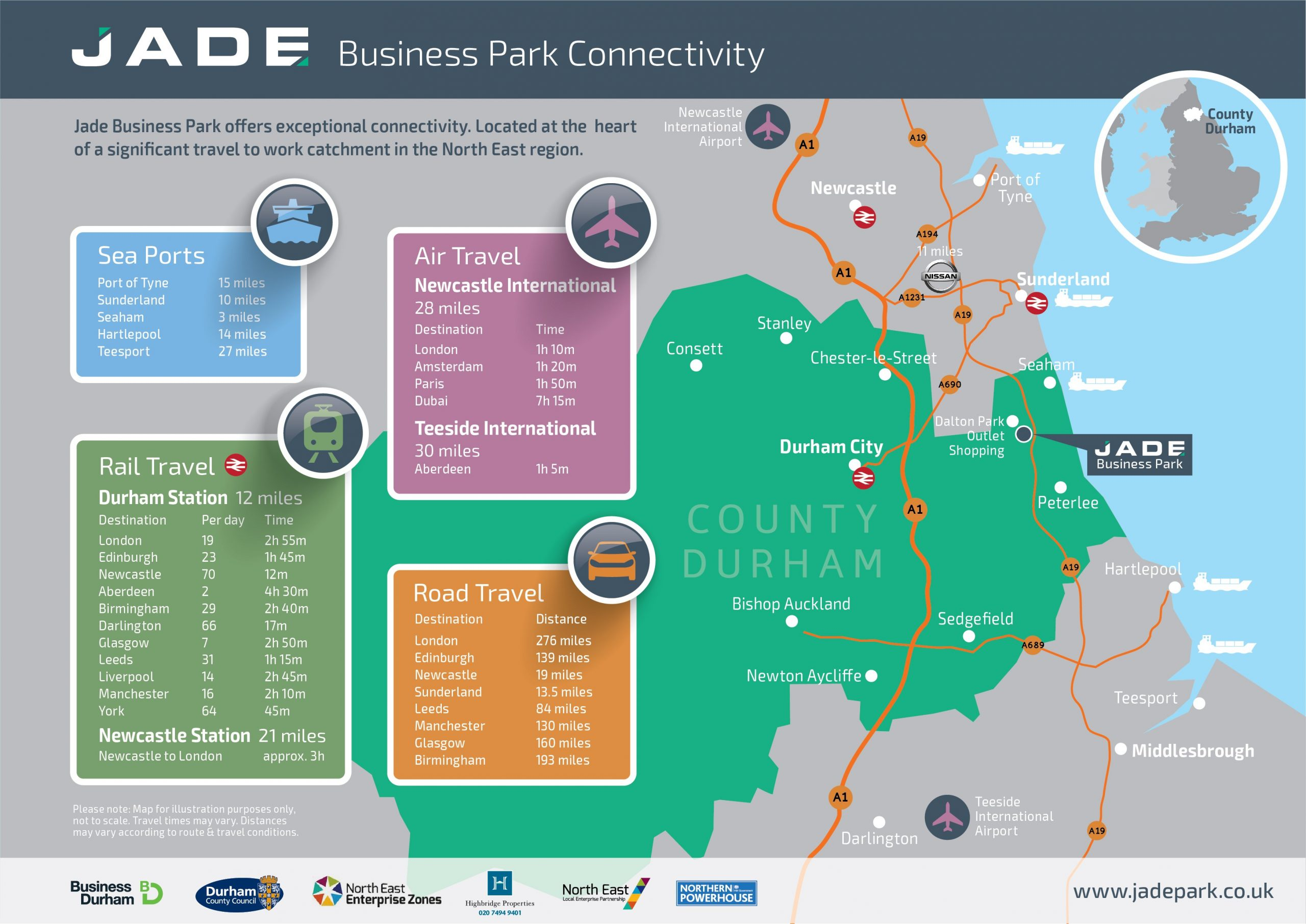Jade Business Park location map