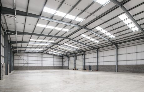 Internal warehouse shot of unit one at Jade Business Park