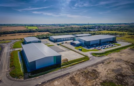 Jade Business Park aerial shot taken from a drone in September 2020