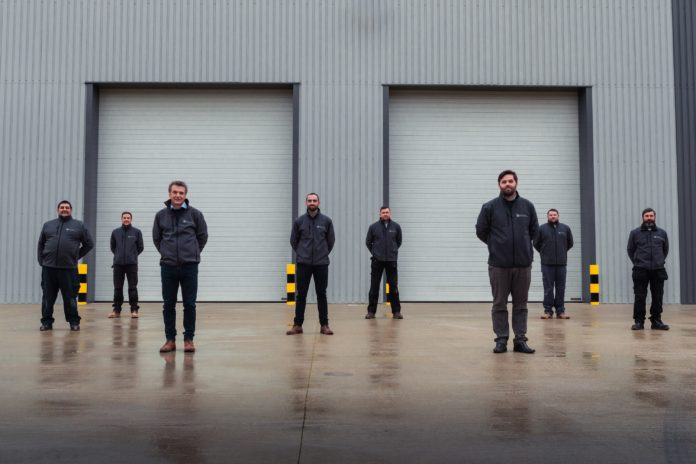 CoreHaus team outside their unit at Jade Business Park