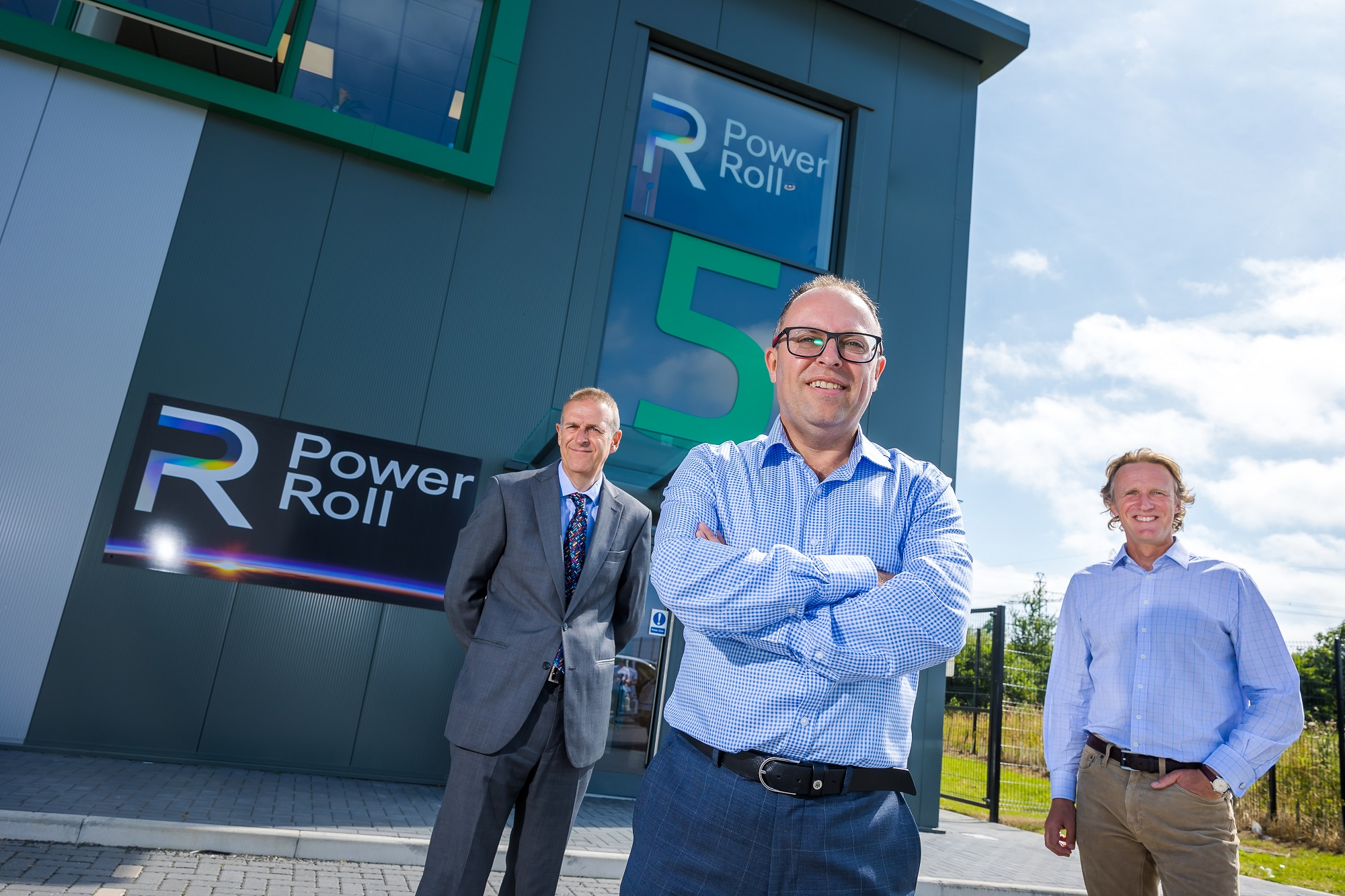 (l to r) Peter Rippingale Business Durham, Neil Spann, Chief Executive, Power Roll and Nick Atkinson HTA Real Estate