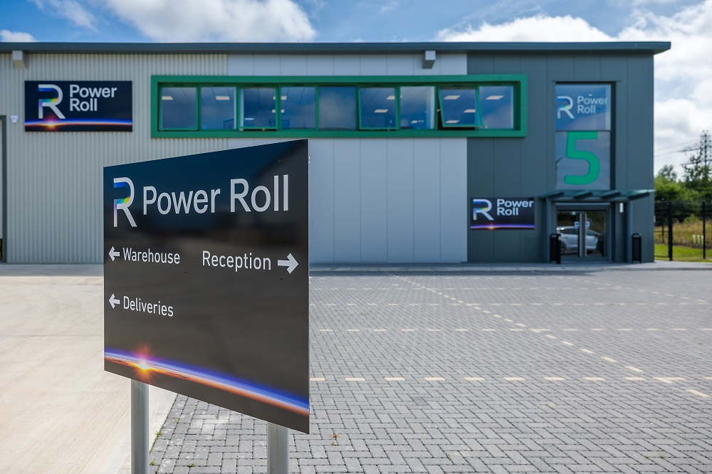 General view of the new premises of Power Roll on Jade Business Park, Seaham.