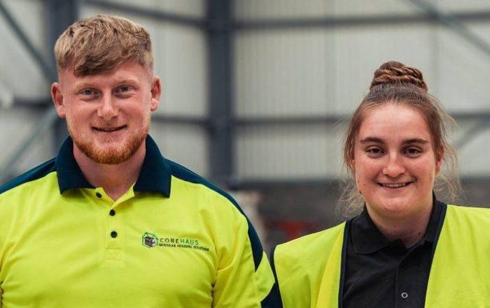 Corehaus apprentices from left Matthew Watson and Amber Raine.